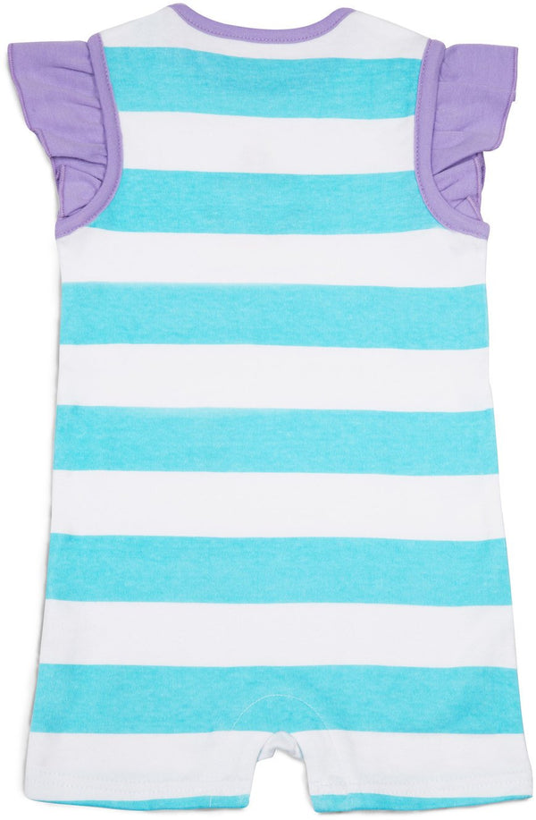 Purple and Aqua Boat Baby Romper Baby Romper - Beloved Gift Shop