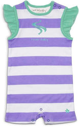 Purple and Green River Baby Romper