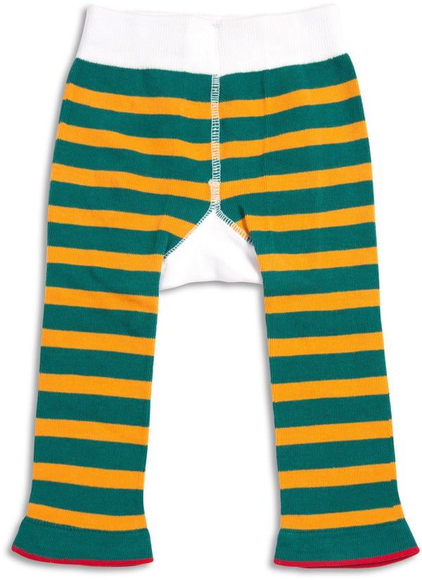 Green & Yellow Camping Baby Leggings Baby Leggings We Baby - GigglesGear.com
