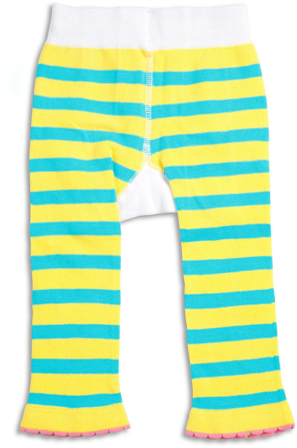 Aqua & Yellow Beach Baby Leggings Baby Leggings We Baby - GigglesGear.com
