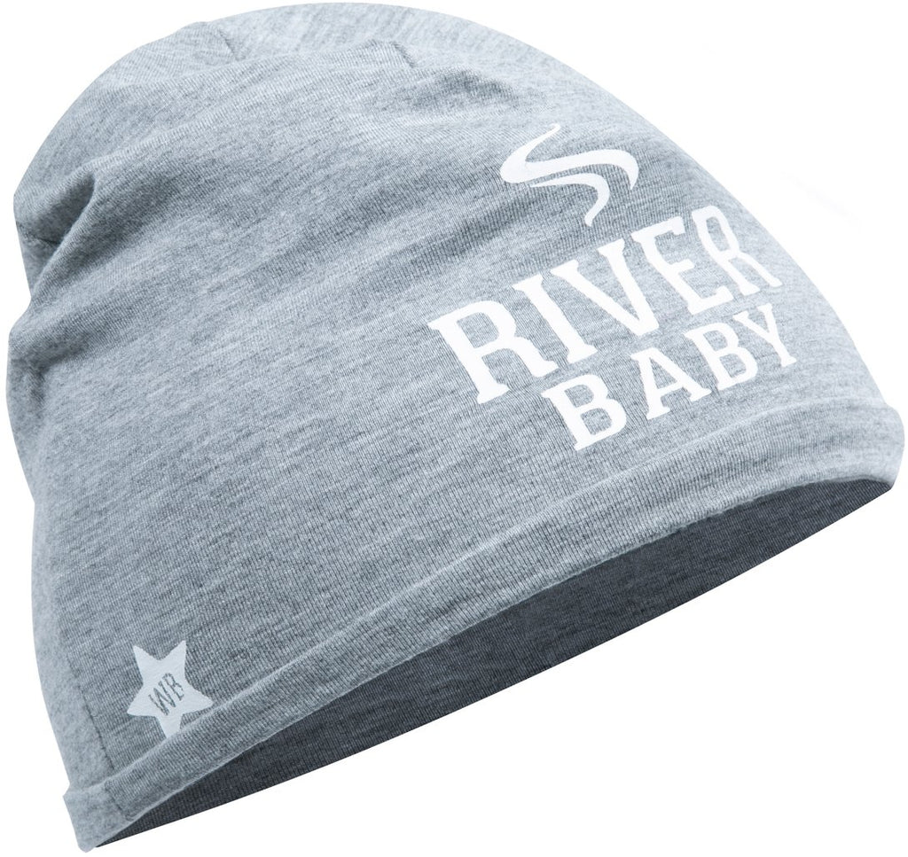 River Baby Heather Gray Beanie Hat Baby Hat We Baby - GigglesGear.com