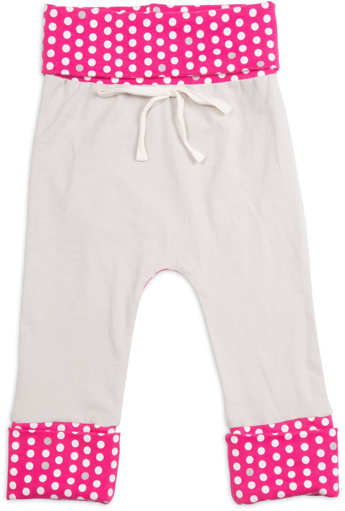 Pink Polka Dot As You Grow Baby Pants 6-24 M Baby Pants Sidewalk Talk - GigglesGear.com