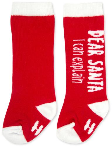 Dear Santa I can explain Baby Knee High Socks Baby Socks Sidewalk Talk - GigglesGear.com