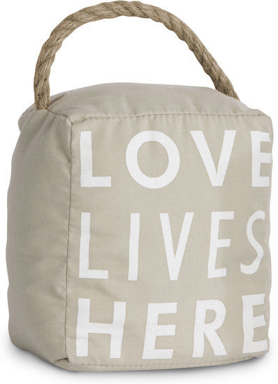 Love Lives Here Door Stopper Door Stopper - Beloved Gift Shop