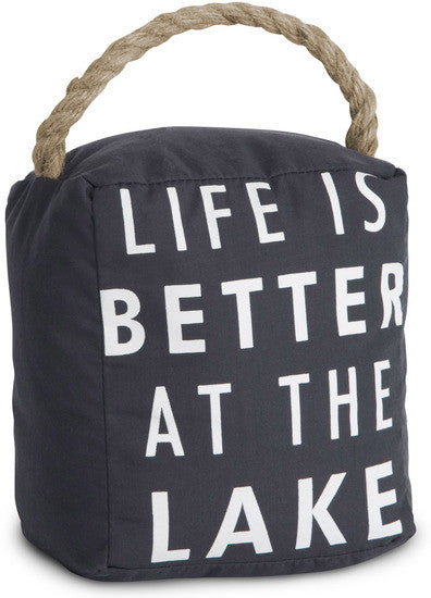 Life is Better at the Lake Door Stopper by Open Door Decor - Beloved Gift Shop