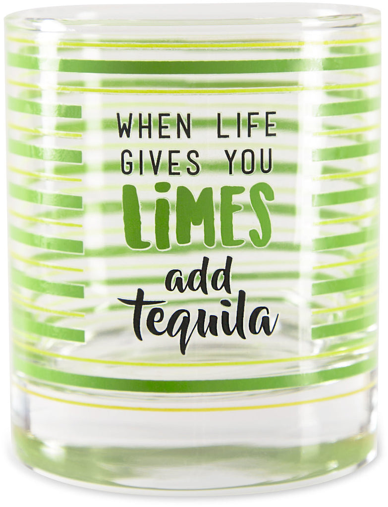 When life gives you limes add tequila Rock Glass Rock Glass - Beloved Gift Shop