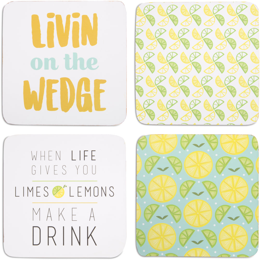Make a Drink (4 Piece) Coaster Set with Box