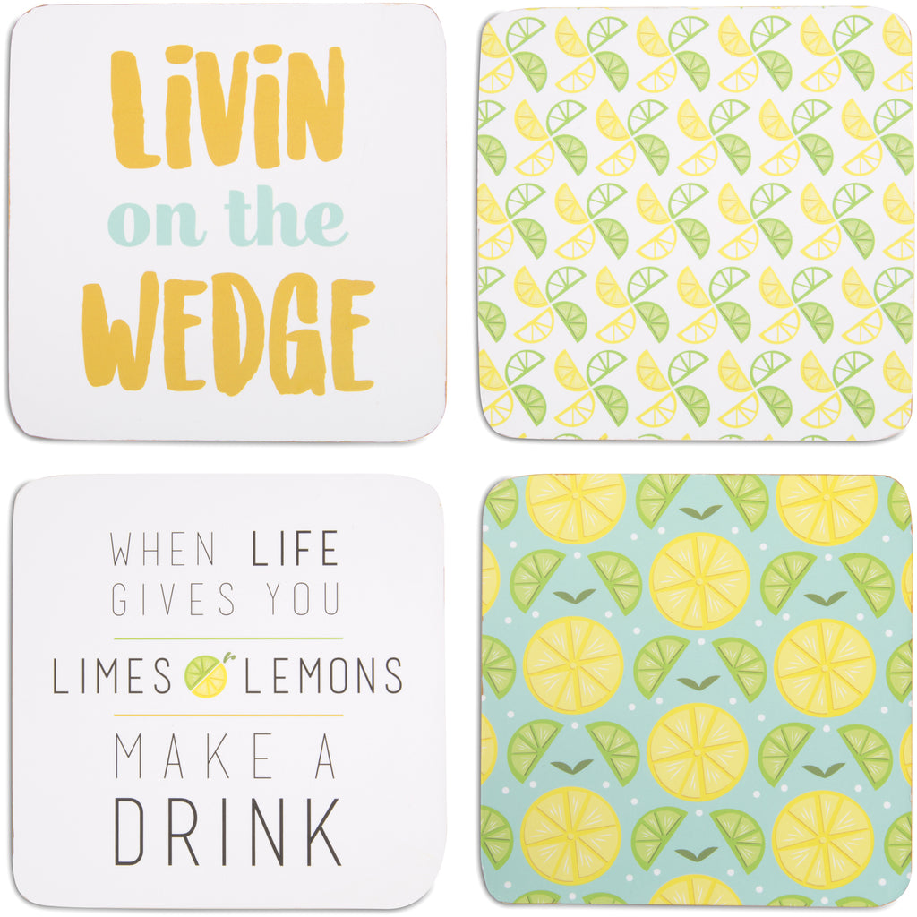 Make a Drink Beverage Drink Coasters (Set of 4) Beverage Coasters - Beloved Gift Shop