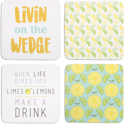 Make a Drink Beverage Drink Coasters (Set of 4)
