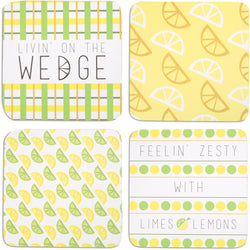 Zesty Beverage Drink Coasters (Set of 4)
