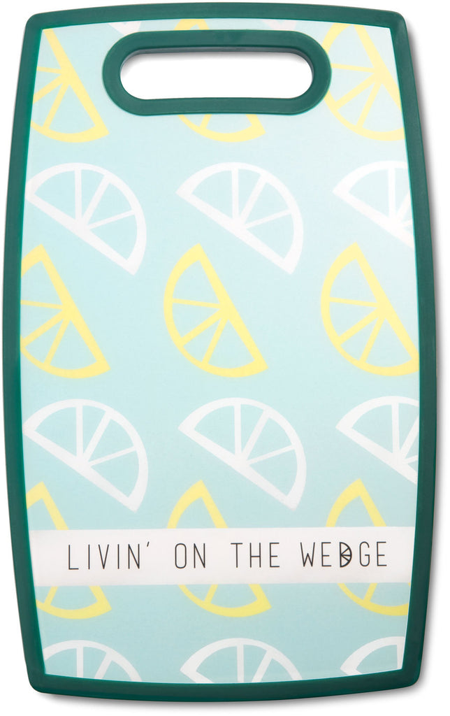 "Livin' on the Wedge - 9"" x 14.5"" Cutting Board by Livin' on the Wedge - Beloved Gift Shop"