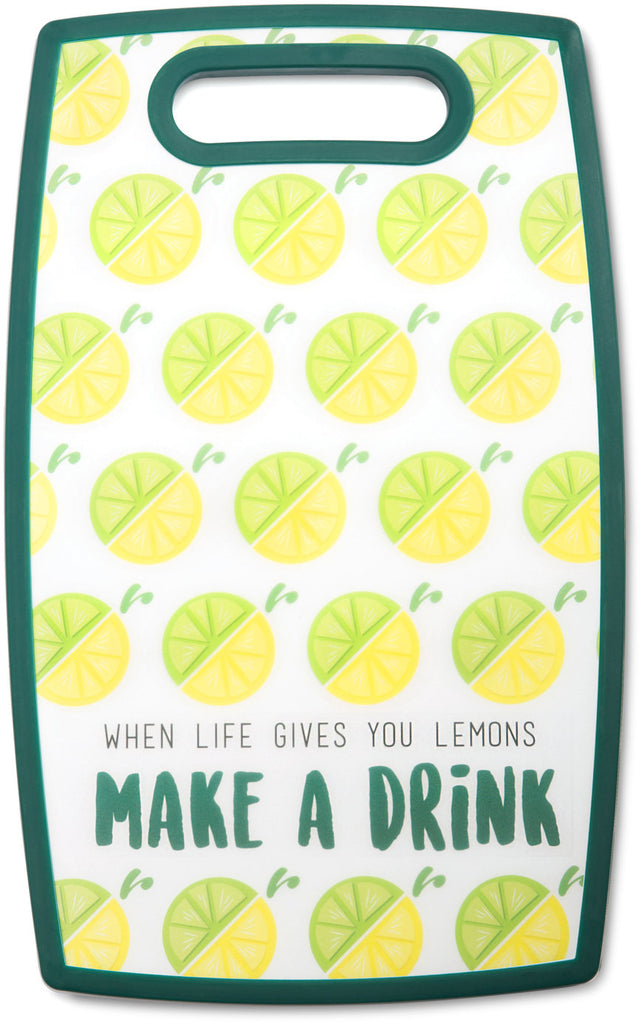 "Make a Drink - 9"" x 14.5"" Cutting Board by Livin' on the Wedge - Beloved Gift Shop"