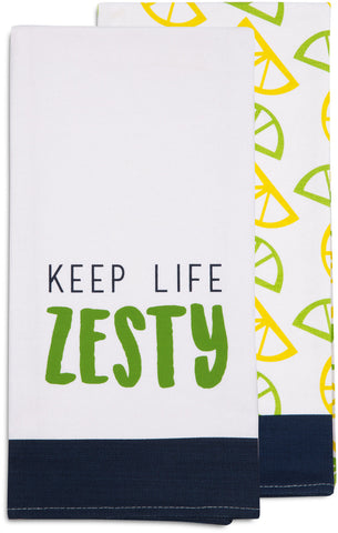 Keep Life Zesty - Tea Towel Gift Set by Livin' on the Wedge - Beloved Gift Shop