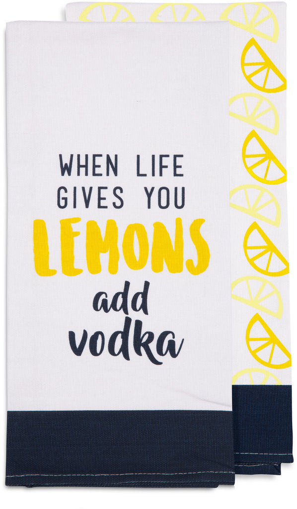 When life gives you lemons add vodka - Tea Towel Gift Set by Livin' on the Wedge - Beloved Gift Shop