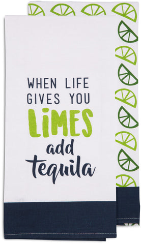 When life gives you limes add tequila - Tea Towel Gift Set by Livin' on the Wedge - Beloved Gift Shop