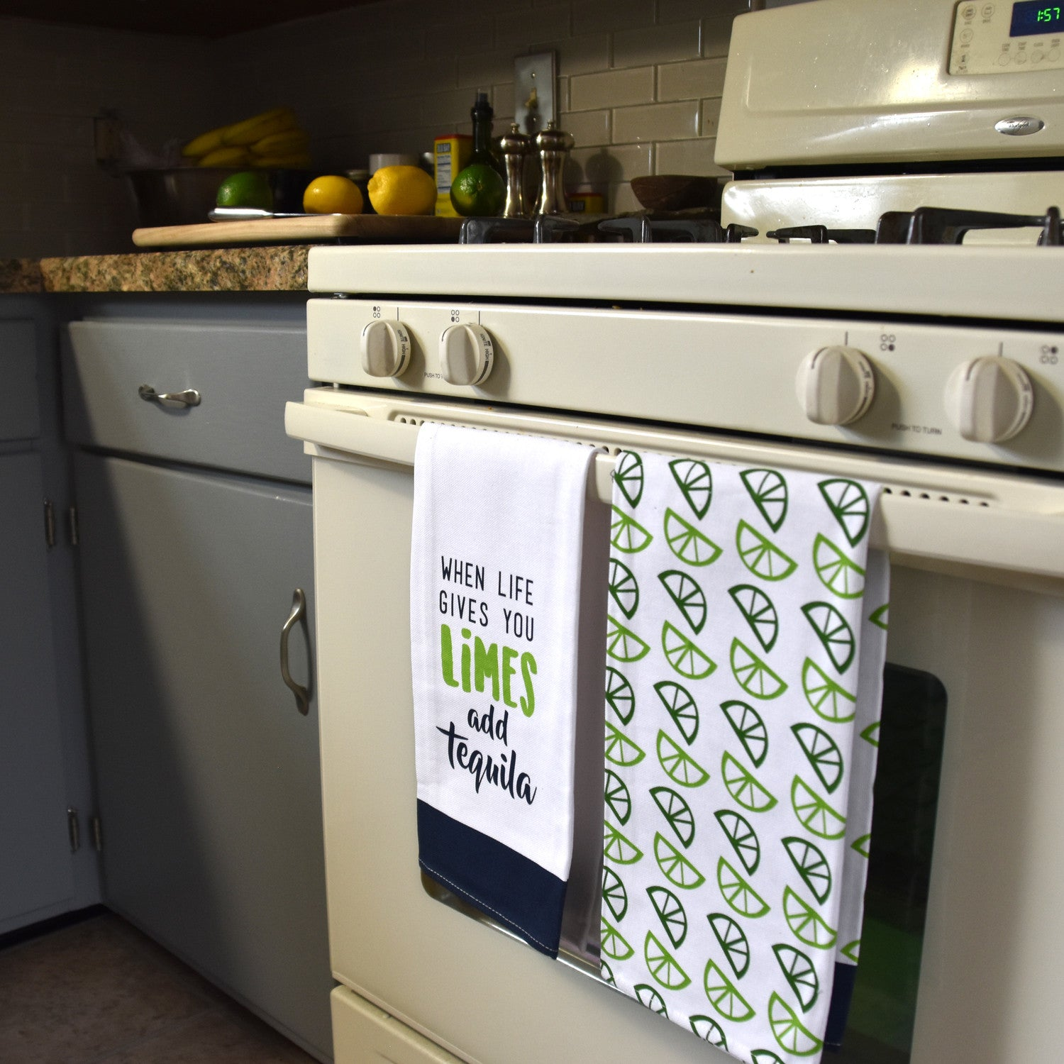 When Life Gives You Limes Add Tequila Tea Towel Gift Set Beloved