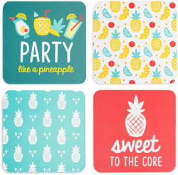 Pineapple Punch Beverage Drink Coasters (Set of 4)