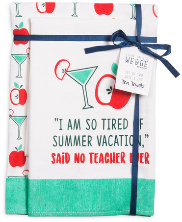 Summer Vacation Tea Towel Gift Set Tea Towels - Beloved Gift Shop