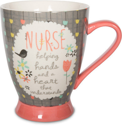 Nurse helping hands and a heart that understands Mug by Bloom by Amylee Weeks - Beloved Gift Shop
