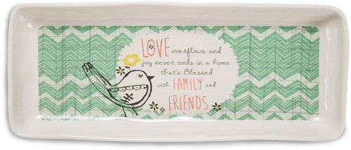 Love overflows and joy never ends Serving Tray Serving Tray - Beloved Gift Shop