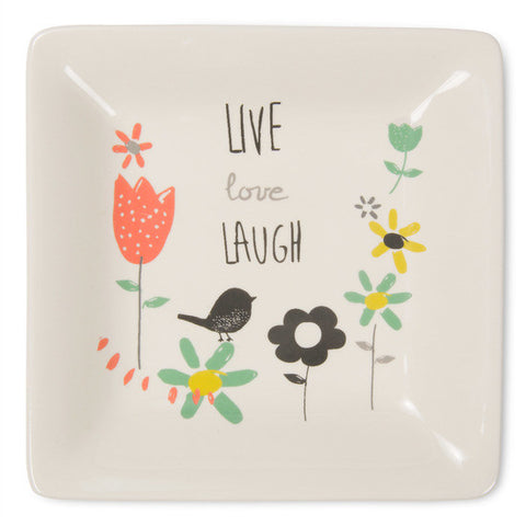 Live love laugh Ceramic Keepsake Dish by Bloom Amylee Weeks - Beloved Gift Shop