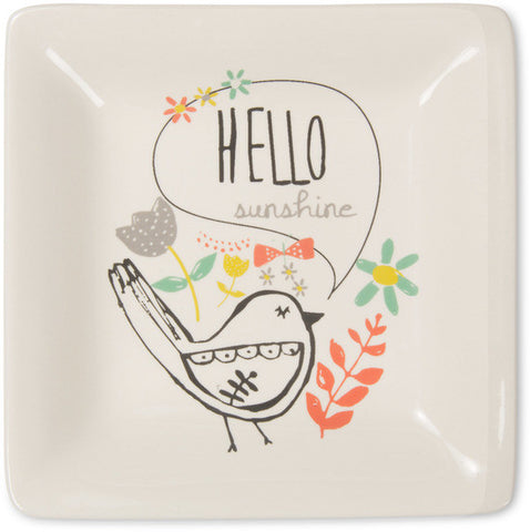 Hello sunshine Ceramic Keepsake Dish by Bloom Amylee Weeks - Beloved Gift Shop