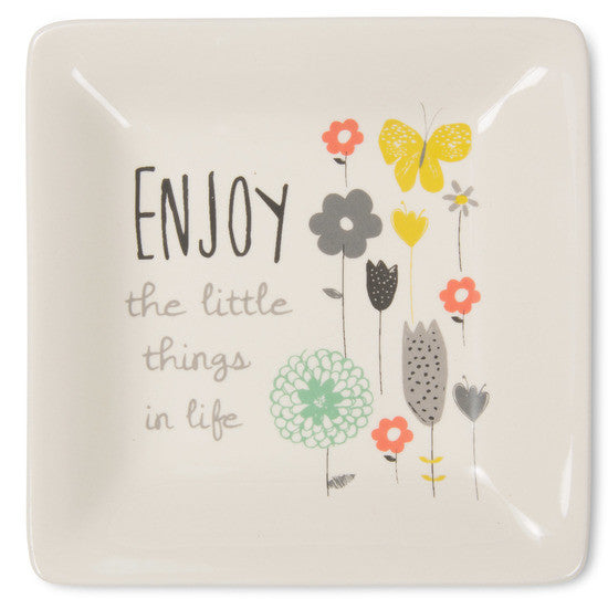 Enjoy the little things in life Ceramic Keepsake Dish by Bloom Amylee Weeks - Beloved Gift Shop