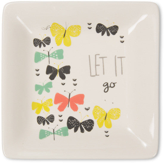 Let it go Ceramic Keepsake Dish by Bloom Amylee Weeks - Beloved Gift Shop