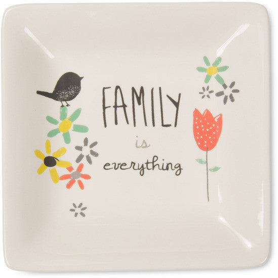 Family is everything Ceramic Keepsake Dish by Bloom Amylee Weeks - Beloved Gift Shop