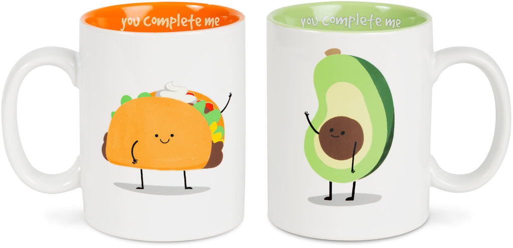 Taco and Avocado, You Complete Me Mug Set, (Coming Soon) by Late Night Snacks - Beloved Gift Shop