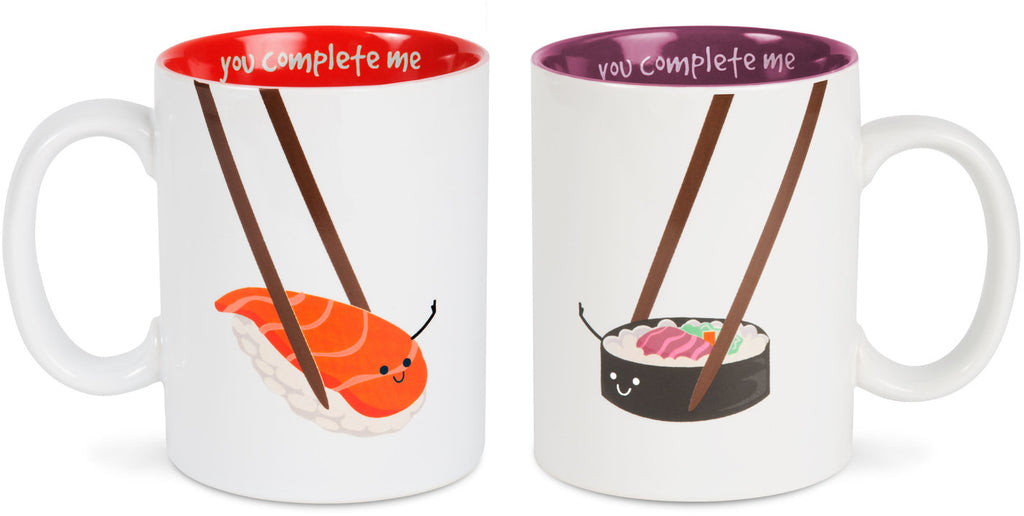 Sushi, You Complete Me Mug Set, (Coming Soon) by Late Night Snacks - Beloved Gift Shop