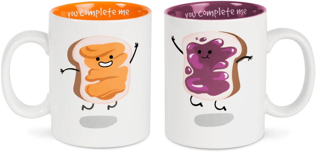Peanut Butter and Jelly, You Complete Me Mug Set, (Coming Soon) by Late Night Snacks - Beloved Gift Shop
