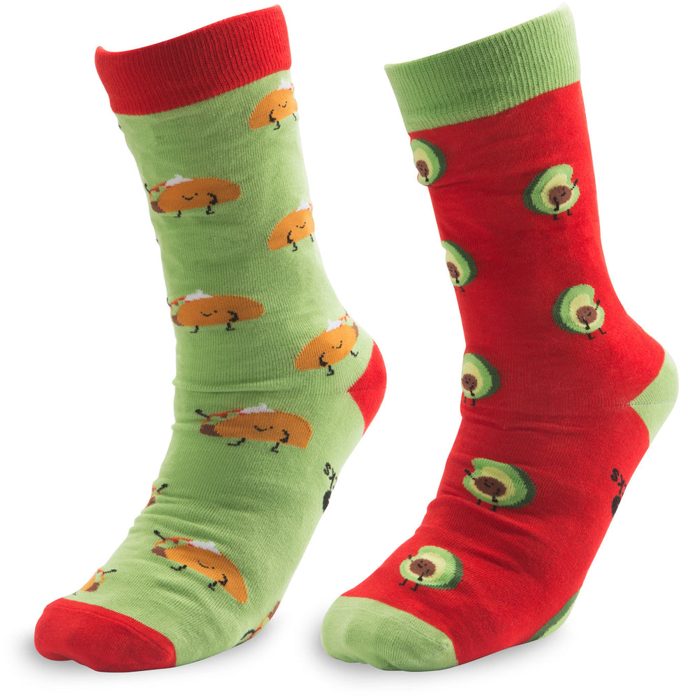 Taco and Avocado Unisex Casual Dress Socks