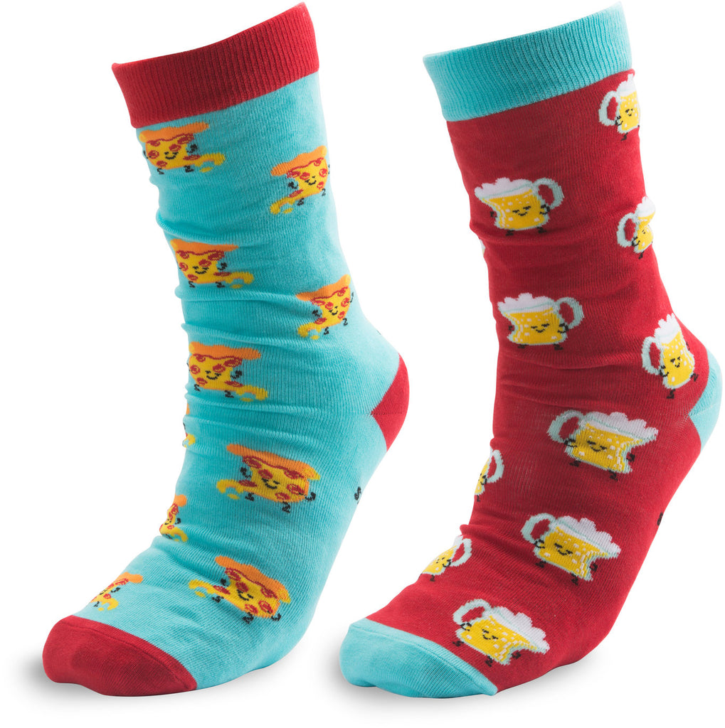 Beer and Pizza Unisex Casual Dress Socks Socks - Beloved Gift Shop