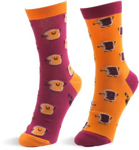 Peanut Butter and Jelly - Unisex Socks by Late Night Snacks - Beloved Gift Shop