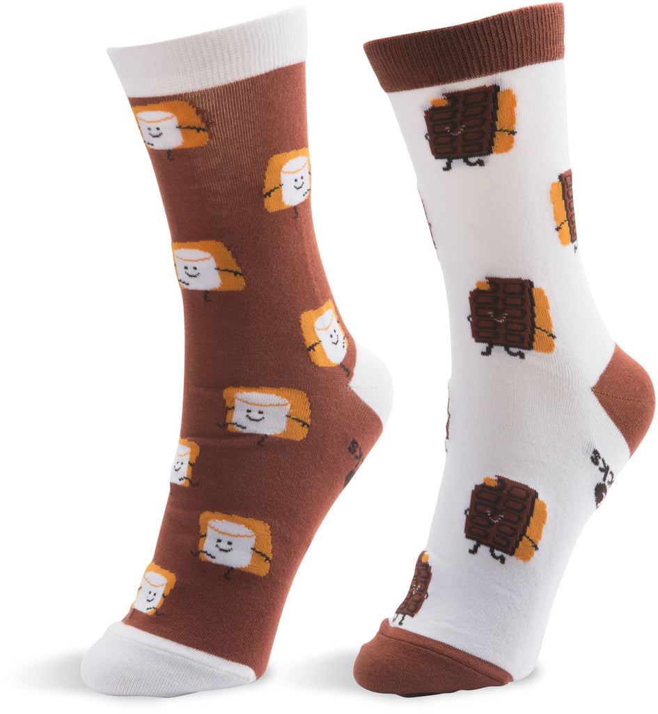 S'mores - Unisex Socks by Late Night Snacks - Beloved Gift Shop