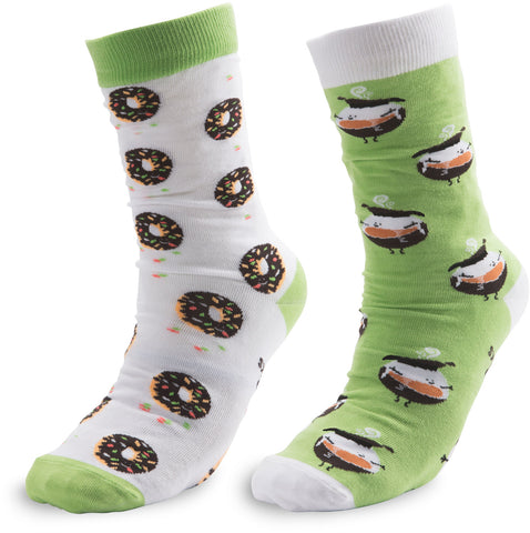 Coffee and Donut - Unisex Socks by Late Night Snacks - Beloved Gift Shop
