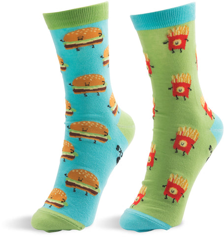 Cheeseburger and Fries - Unisex Socks by Late Night Snacks - Beloved Gift Shop