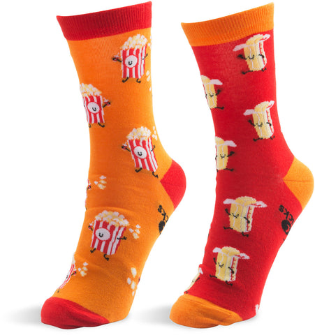 Popcorn and Butter - Unisex Socks by Late Night Snacks - Beloved Gift Shop