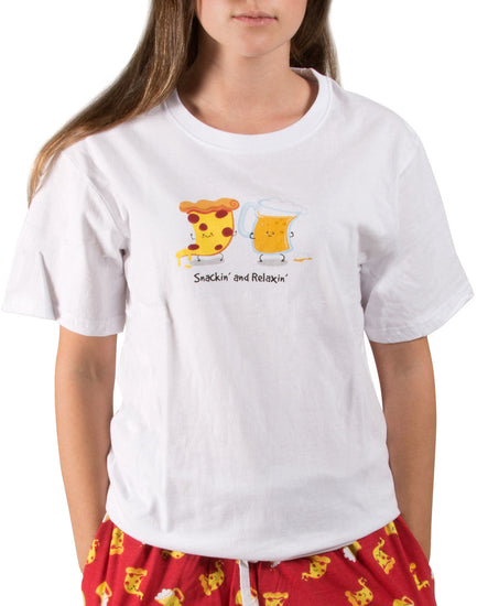 Beer and Pizza Unisex Relaxed Fit T-Shirt