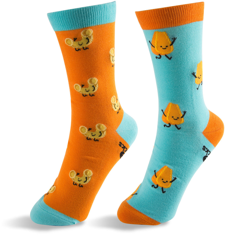 Mac and Cheese Unisex Casual Dress Socks