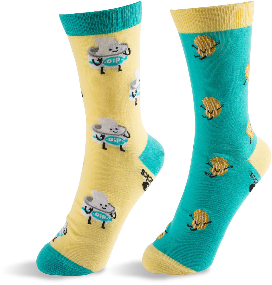 Chips and Dip Unisex Casual Dress Socks