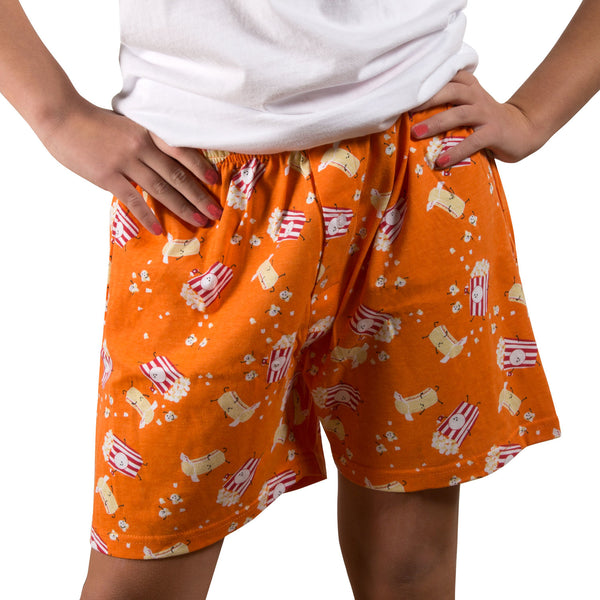 Popcorn and Butter Orange Unisex Boxer Shorts Boxer Shorts - Beloved Gift Shop