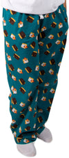 S'mores Teal Unisex Lounge Pajama Pants