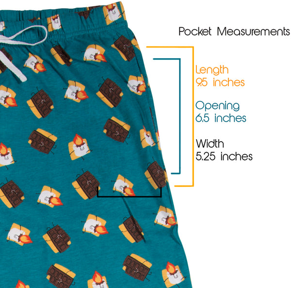S'mores Teal Unisex Lounge Pajama Pants Lounge Pants - Beloved Gift Shop