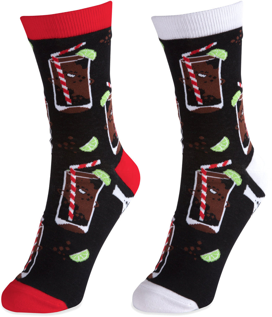 Rum & Cola Unisex Casual Dress Socks Socks - Beloved Gift Shop