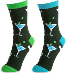 Martini Unisex Casual Dress Socks