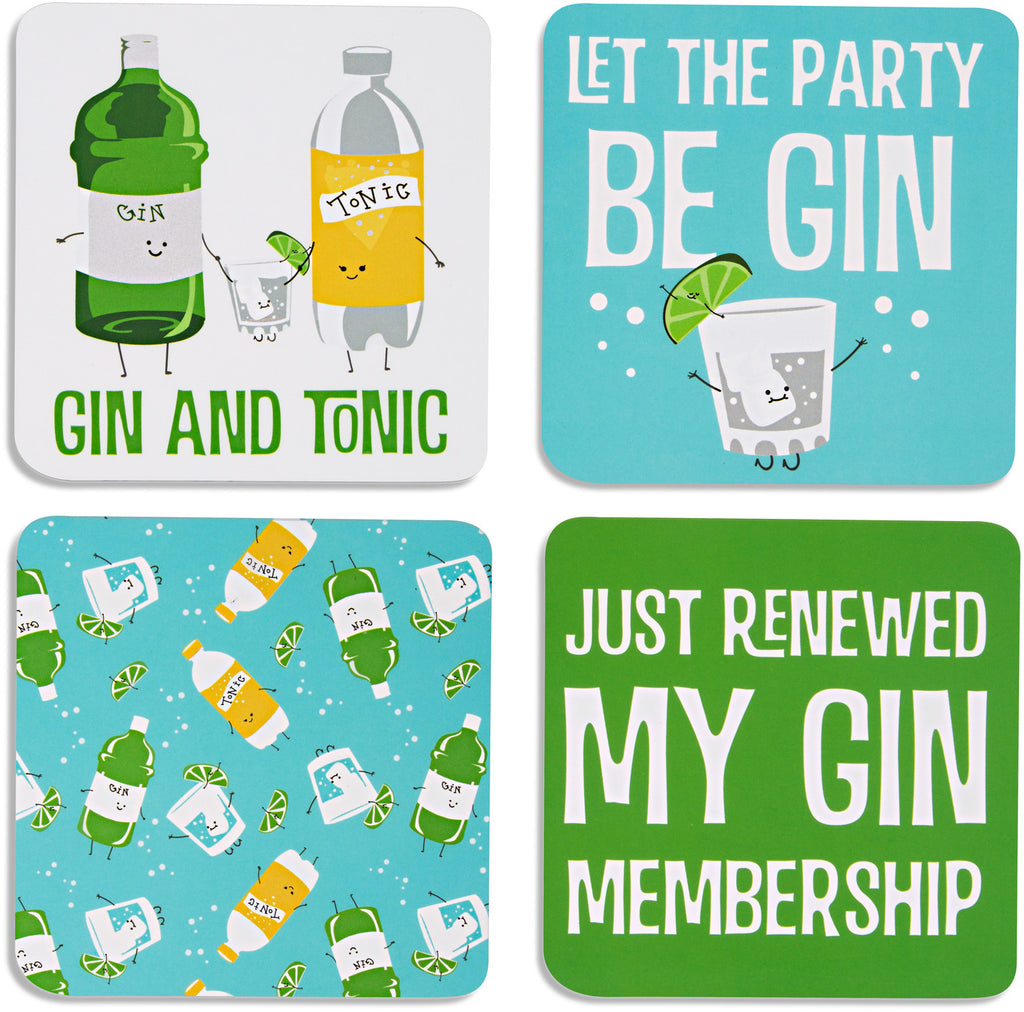 Gin & Tonic Beverage Drink Coasters (Set of 4) Beverage Coasters - Beloved Gift Shop