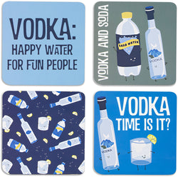 Vodka & Soda Beverage Drink Coasters (Set of 4)