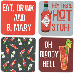 Bloody Mary Beverage Drink Coasters (Set of 4)
